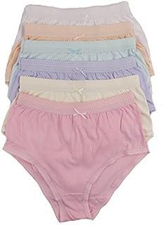 fa502c48eb85 cottonique Mujer 6 PARES DE Completo Algodón Calzoncillos en colores a  elegir 36-54