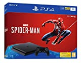 Sony PlayStation 4 Slim 1 To + Marvel's Spider-Man Édition Standard, Avec 1 Manette Sans Fil DUALSHOCK 4 V2, Châssis F, Noir (Jet Black), Art : 9732716