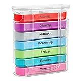 WELLGRO Tablettenbox für 7 Tage,...