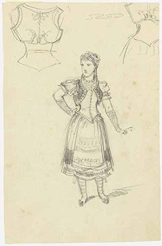 H. W. Fichter Kunsthandel: Hendschel, Albert, Junge Frau in Tracht, Blei, um 1860