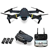 Drones with Camera for Adults/Kids, Hairun E58 Foldable RC Quadcopter Drone with 4k HD Camera, WiFi FPV Live Video, 3D Flips, Altitude Hold, Headless Mode, One Key Take Off/Landing (3Pcs Batteries)