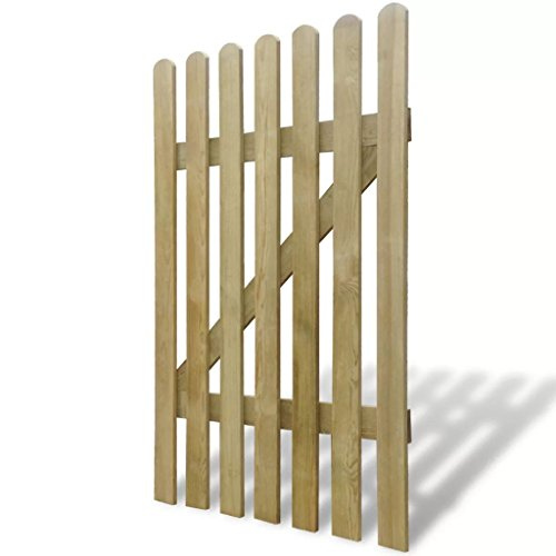 Holz Gartentor Lattenzauntor Gartentür Zauntür Pforte Zauntür Hoftor für Garten Terrasse Hof, 100 x 150 cm