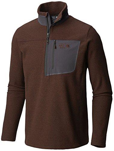 top 10 mountain hardwear 1763931 Mountain Hardwear Toasty Twill 1/2 Zip Jacket-Men's Wood Smoke Medium
