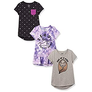 Spotted Zebra Disney Star Wars Marvel Frozen Princess-Camiseta de Manga Corta Niñas, Pack de 3 10