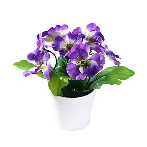 WFZ17 Bonsái artificial, 1 pieza de bonsái de flores naturales para decoración de hogar, oficina, jardín, fiesta, etc. azul