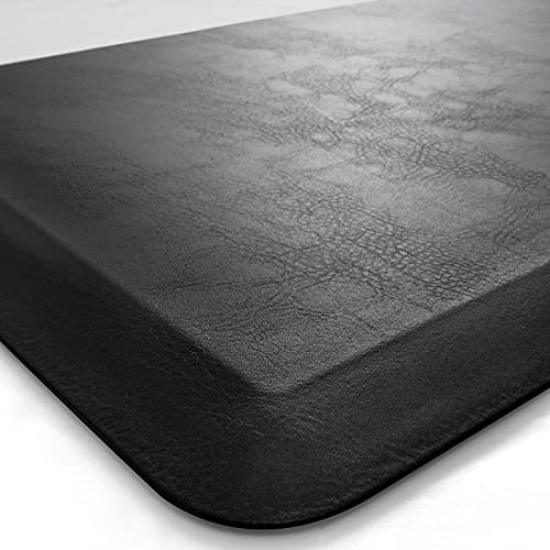 DEXI Anti Fatigue Mat Kitchen Ergonomic Cushioned Comfort Floor Runner Rug for Standing Desk Office,3/4 Inch Thick Cushion 20'x32' Black