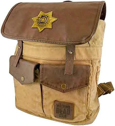 Unbekannt Lizenzierte AMC The Walking Dead (45,7  H x 30,5cm W x 14  D) Rick Größes Sheriff Desert braun Rucksack