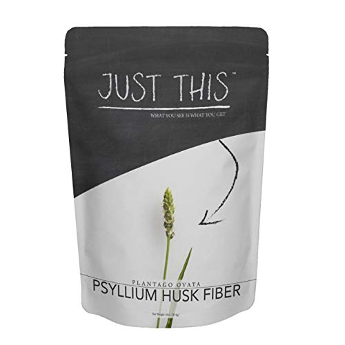 Psyllium Husk Fiber Powder - Premium Soluble Fiber Supplement and Prebiotic - Simply Mix with Water or Use in Baking to Aid Constipation and Weight Loss - Just This Brand 16oz