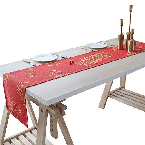 InnoBeta Weihnachten Tischläufer Weihnachten Deko Kommode Schal Tischdeko Ideal für Weihnachten Party Wohnzimmer Esszimmer Grün
