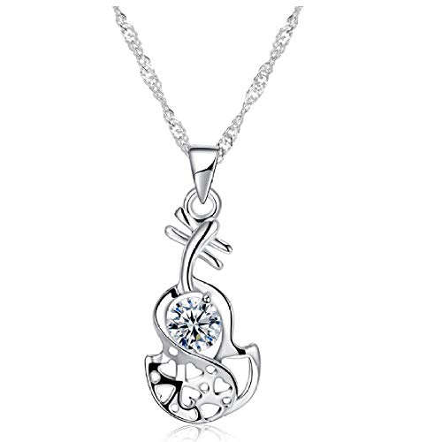N/H Collar de plata925 Plata de Ley Mujer Collares con Colgantes Diamante Cristal Gargantillas Regalo para Damas Joyas Chica