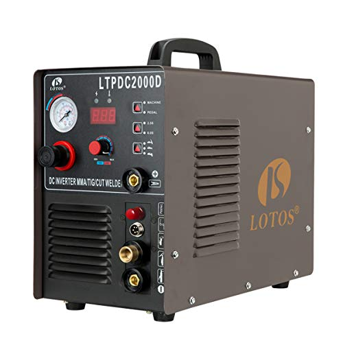 Lotos LTPDC2000D Non-Touch Pilot Arc Plasma Cutter Tig Welder and Stick Welder 3...