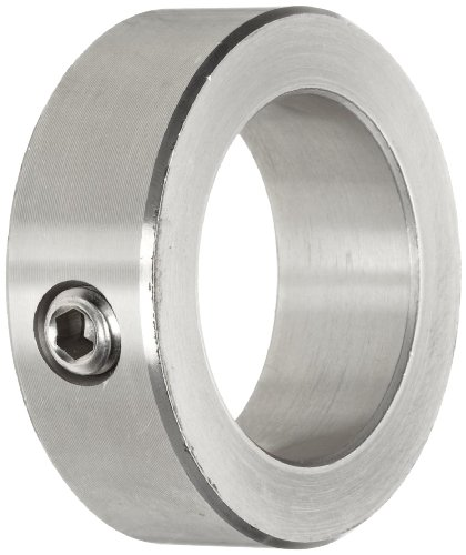 Climax Metal C-087-S Shaft Collar, One Piece, Set Screw Style, Stainless Steel, 7/8