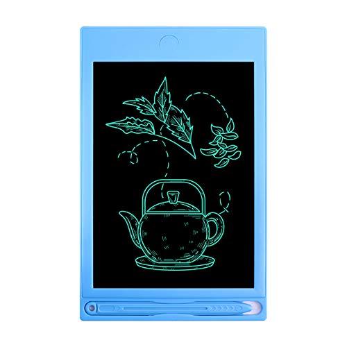 LCD-Schreibtafel, 8-Zoll-Zeichentablett, löschbarer Handschriftblock, tragbarer Notizblock, elektronischer Kinder-Doodle-Brett-Schreibblock für das Büro der Heimschule (8 Zoll, Blau)
