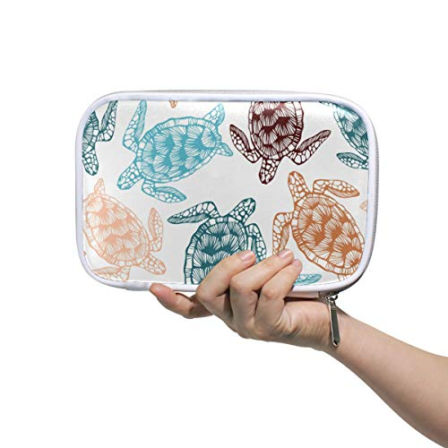 A Seed Large Pencil Holder Bag Case Pouch Turtle Tortoise Ocean Sea with Compartment Zipper
