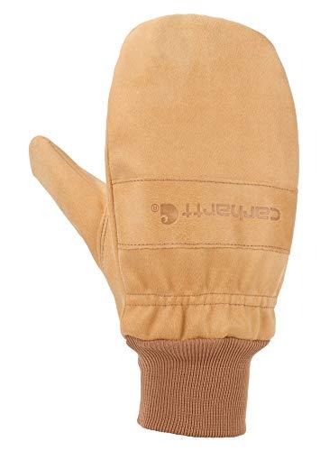 Carhartt Men's Insulated System 5 Gunn Mitten with Knit Cuff, Brown, Large