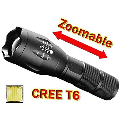 Torcia E17 XML T6 3800Lumens Torcia Zoomable Torcia Torcia Per batteria 18650