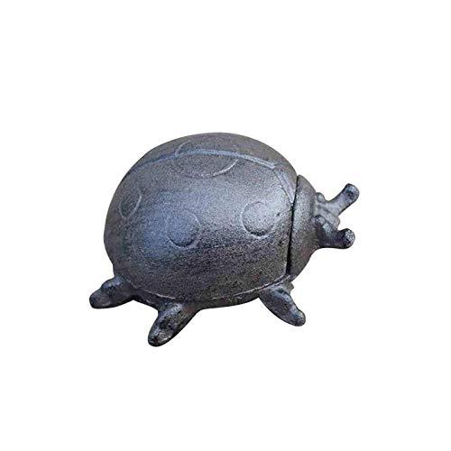 XDYNJYNL Cenicero de hierro para insectos, cenicero de mariquita de metal decorativo con tapa, soporte para cenicero para fumadores, ceniceros de cigarrillos a prueba de viento para interiores y exter