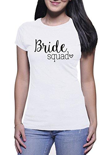 BlackMeow Bride Squad Mujer White T-Shirt - Medium