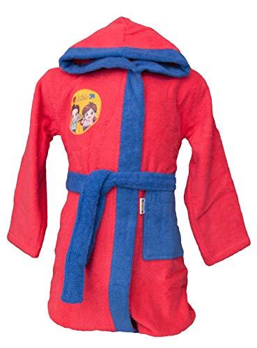 Me Contro Te Albornoz original Luì y Sofì de rizo de puro algodón con capucha para niña fucsia 7-8 Years