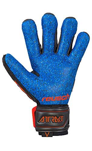Reusch Attrakt G3 Fusion Evolution NC Guardian, Guanti da Portiere Unisex-Adulto, Nero/Arancione Shocking/Blu Scuro, 8