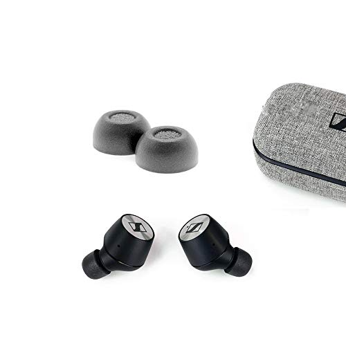 Memory Foam Earbuds Tips Wax Guard Filter Compatible with Sennheiser Momentum True Wireless 2 /CX 400BT,JBL Tune 120TWS /Reflect Flow/Live 300 / Free X/Under Armour Flash (Large)