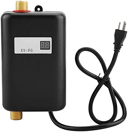 Electric Tankless Water Heater 110V 3000W Mini Instant Hot Water Heater with LCD Digital Display product image