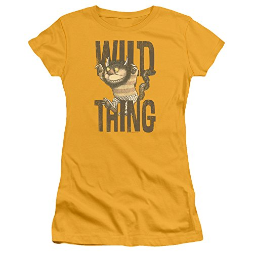 Where The Wild Things Are - Wo die Wilden Kerle sind - das Wild Thing T-Shirt der Jungen Frauen, X-Large, Gold
