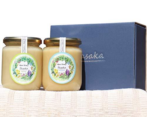 【数量限定北欧産 生はちみつ】大瓶2本入り(春と夏の百花種の蜂蜜)自然保護地区で採取された 天然 非加熱 だから酵素ビタミンミネラルがたっぷり爽やかな初夏の百花種の蜂蜜 (3代目養蜂家)【Raw Honey PASAKA】お歳暮 お中元 お祝い お返し お