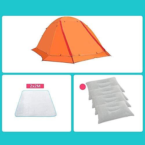 Equipo para acampar Tiendas de campaña Tienda de campaña de escalada de poste de aluminio ultraligero, cálido, de doble capa, resistente a la lluvia, ultraligero, para acampar (Color: D) kshu (Colo
