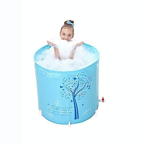 Qiutianchen Barril de baño Plegable sin-SLP, baño portátil no Inflable for Adultos cilíndrica de Doble Drenaje de bañera de bañera de bañera de baño de remojo