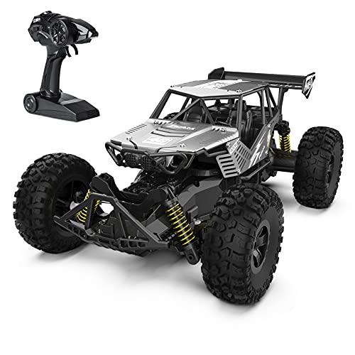 Auto radiocomandata 1:14 2.4 GHz RC Auto Offroad Monster truck, auto telecomandata 20 km/h, RC Car dai 6 anni in su, giocattolo per auto, regalo per bambini 8 anni e adulti, argento