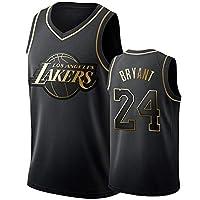 神戸バスケットボールジャージ24#、メンズバスケットボールユニフォーム、レイカーズ屋外通気性スポーツウェア、チームトレーニングゲームシャツ、ゆったりと快適なスポーツベスト XL