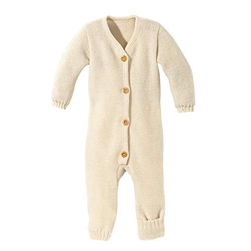 Disana Baby Strick-Overall Bio-Merinowolle, Natur, Gr. 50/56