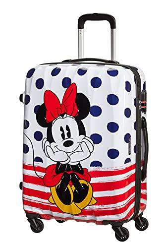 American Tourister Disney Legends, Spinner M, Equipaje infantil, 65 cm, 62.5 L, Multicolor (Minnie Dots)
