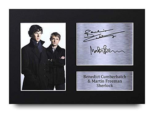 HWC Trading Sherlock A4 Ungerahmt Signiert Gedruckt Autogramme Bild Druck-Fotoanzeige Geschenk Für Benedict Cumberbatch Martin Freeman Tv-Show-Fans