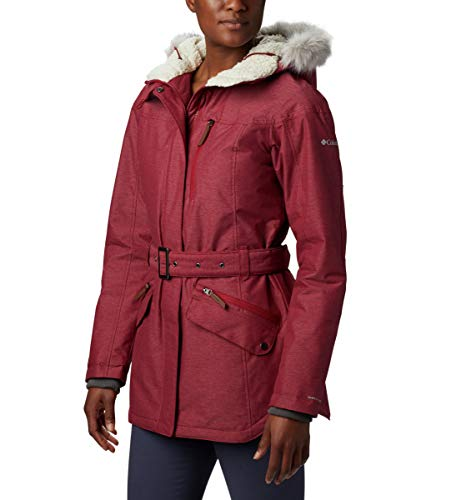 Columbia Carson Pass II Chaqueta impermeable, Mujer, Rojo (Beet), XL