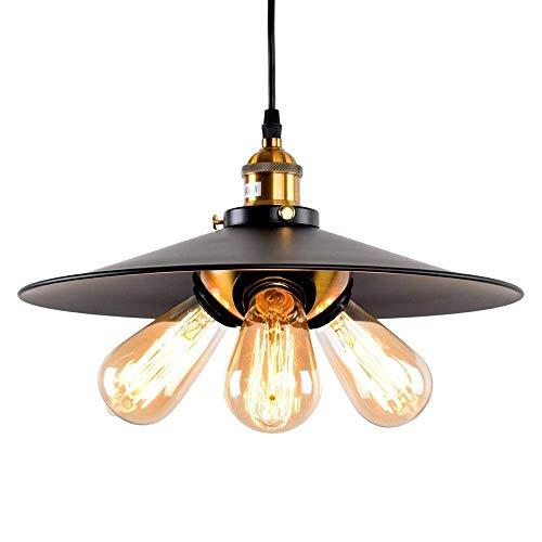ZXCTD Lighting Hill - Lámpara de Techo Convertible for Interiores con Cuatro Luces/lámpara de Techo Semi al RAS, Bronce frotado con Aceite