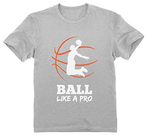 Green Turtle Camiseta para niños Baloncesto Regalos Originales Niños Idea Regalo Jugador Baloncesto Basketball Fans 5/6 Años 116cm Gris