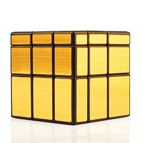 TOYESS Cubo Mágico,Mirror Cube Speed Cube 3x3x3 Rompecabezas Cubo de Velocidad Regalo de Adulto para Niños,Oro