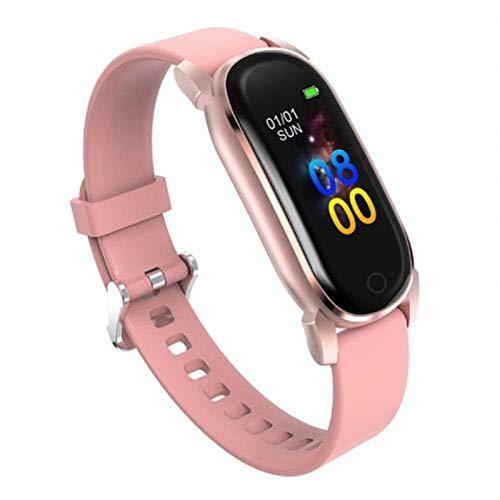 LYB Smart Watch YD8 - Reloj inteligente con medición de temperatura y presión arterial (color: rosa)