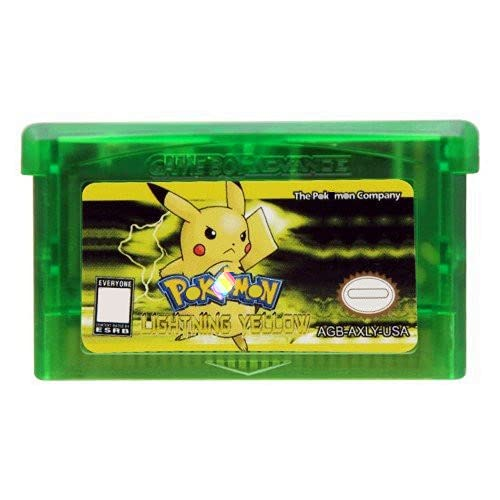 IIIHAT Pokemon-Lightning Yellow Game Cartridge US Version For GBA SP NDSL