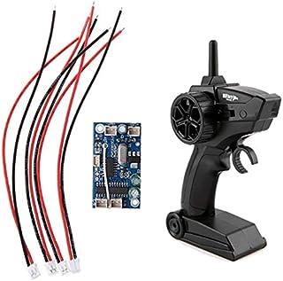 TOOGOO 2.4G 4 Canales InaláMbrico RC Transmisor Receptor Radio Control Remoto Transmisor con Placa Receptora para Barcos RC Coches