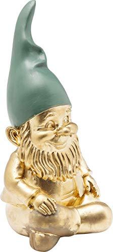 Kare Deko Figur Zwerg Sitting, Gold Grün, 19 cm