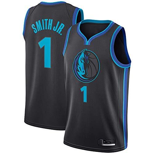 TGSCX Jersey de la NBA de los Hombres y la Mujer Dallas Mavericks 1# Smith Jr. Capacitación de Baloncesto Ropa Deportiva y Ocio Secado rápido Transpirable Vestido sin Mangas,S