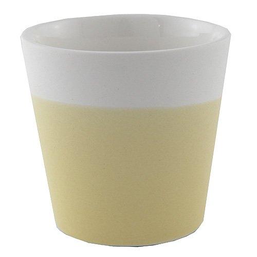 YANKEE CANDLE Samplerhalter, Keramik, Gelb, 7.4x7x7.3 cm