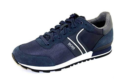 BOSS Herren Parkour Runn Sneakers im Laufschuh-Stil aus Veloursleder und Mesh Größe 41