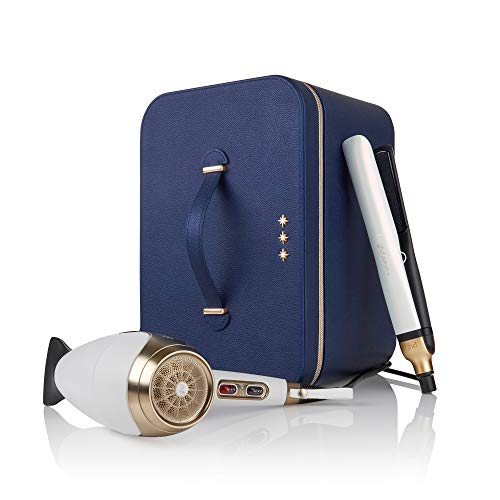 GHD - 99350070790 Wish upon a star - Set da regalo DELUXE, piastra per capelli Platinum+ asciugacapelli professionale Helios