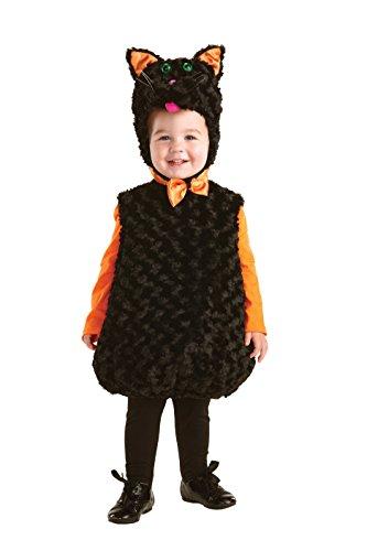 Chat noir en peluche Costume pour enfant - Noir - moyen
