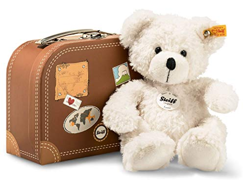 Steiff 111464 Teddyb. Lotte 28 Weiss mit Koffer Bär