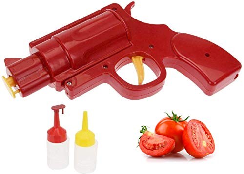 Best Prices! Novelty Condiment Shooter Dispenser – Plastic Ketchup Mustard BBQ Hot Sauce Container...